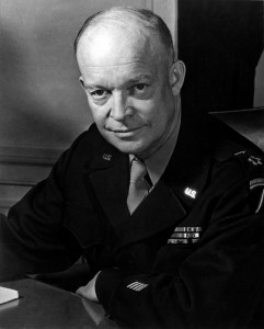 General Dwight D. Eisenhower, Supreme Allied Commander, at his headquarters in the European theather of operations. He wears the five-star cluster of the newly-created rank of General of the Army. February 1, 1945. T4c. Messerlin. (Army) NARA FILE #: 080-G-331330 WAR & CONFLICT BOOK #: 745